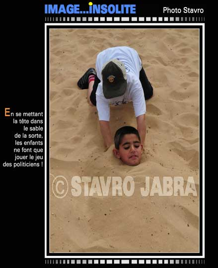 photo stavro - Beyrouth-La t�te dans le sable