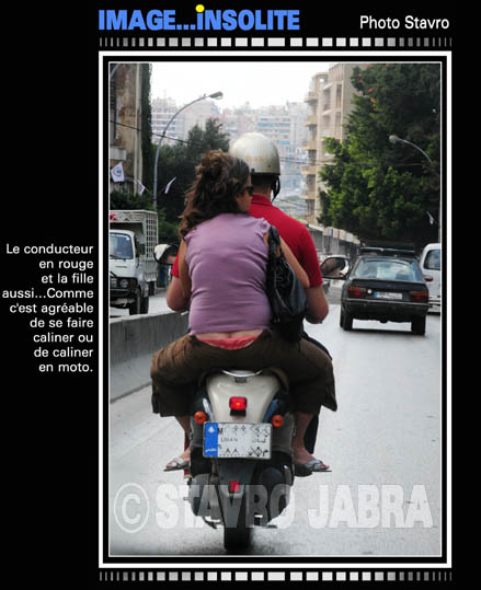 photo stavro - Le conducteur de moto � Beyrouth
